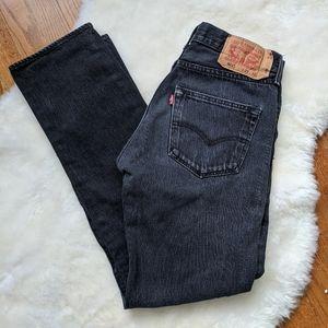 Vintage Levi's faded black 501 mom jeans